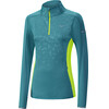 Mizuno Vortex Warmalite HZ Jacket Women Tile Blue/Safety Yellow